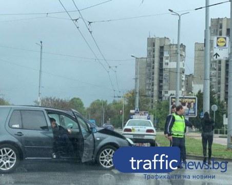 Катастрофата на кръгово кръстовище в Пловдив