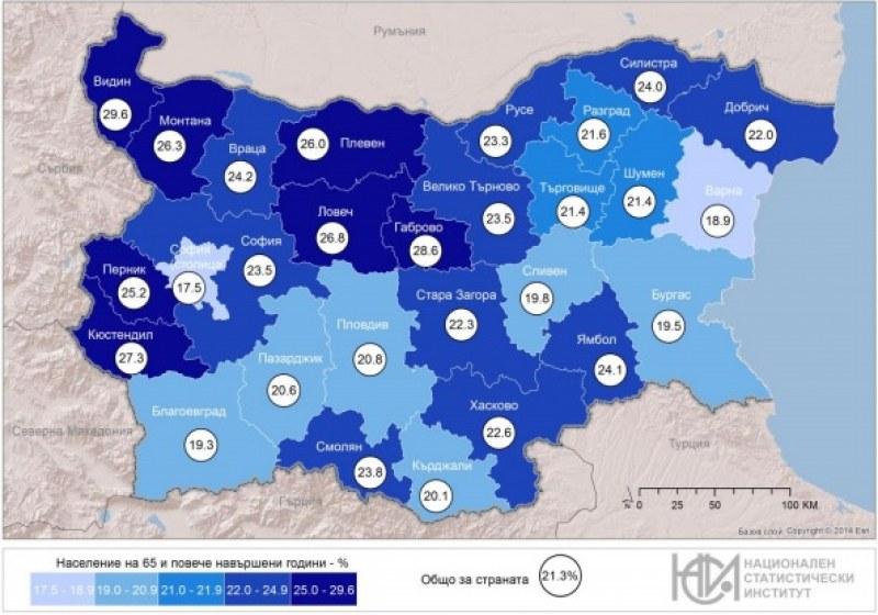 Всеки пети българин – столичанин, 164 населени места – без жители!