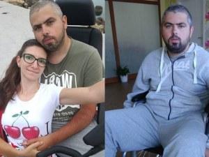 Млада жена с призив да помогнем на любимия й, който не може да ходи