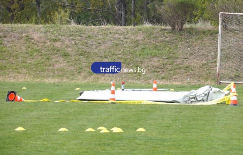Малък самолет падна в пловдивското село Оризари, двама души загинаха