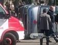 Катастрофа в Пловдив! Бус се преобърна на невралгично кръстовище