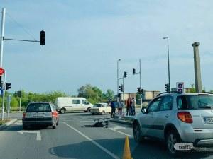 Кръстовище осъмна с отнесен светофар в Пловдив