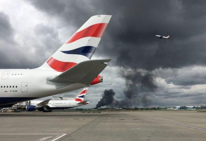 Пожар избухна до летище Хийтроу