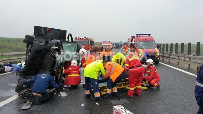 10 българи пострадаха при тежка катастрофа в Румъния