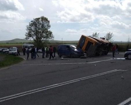 Училищен автобус катастрофира между Айтос и Карнобат