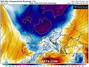 Арктически студ на Балканите за Гергьовден. Живакът пада до 10°C