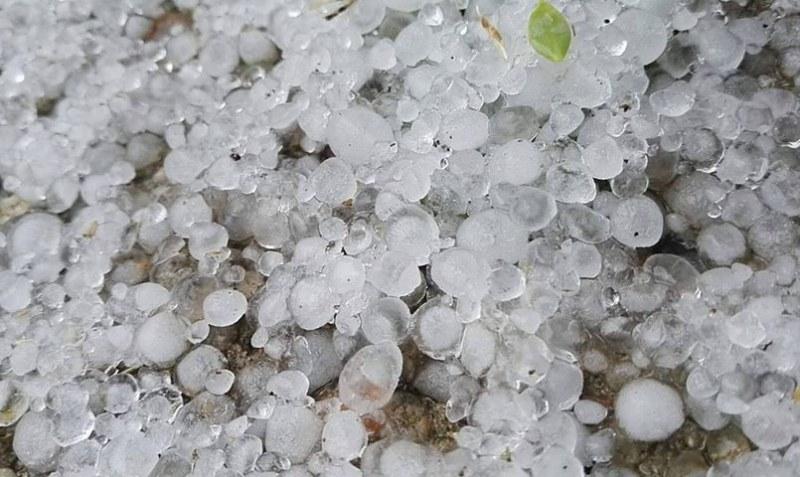 Градушка унищожи реколтата в село Отец Кирилово