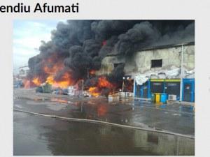 Димна завеса от пламнал мол спря трафика по Околовръстното на Букурещ