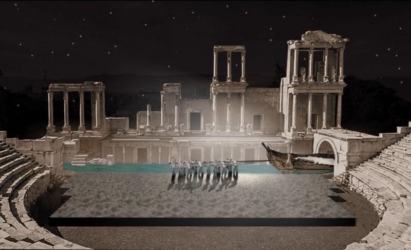 Италианец превръща Античния театър в подземното царство