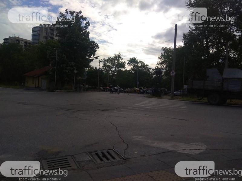 Затворен прелез в Пловдив предизвика зверска тапа