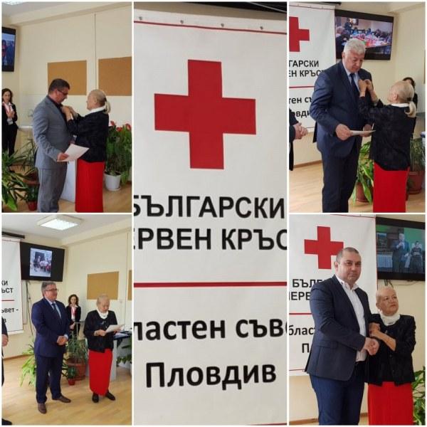 За цялостен принос към мисията на БЧК:  Губернаторът и шефът на пловдивската полиция с медали