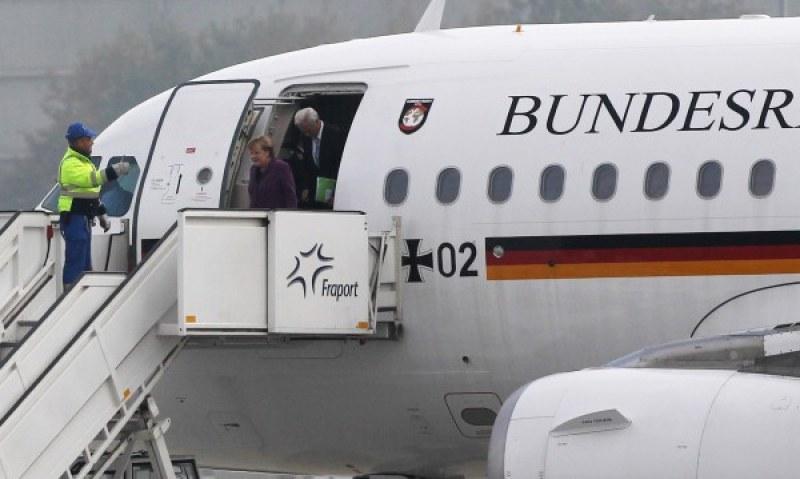 Отново инцидент със самолета на Меркел