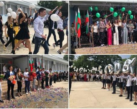 Шампанско, конфети и балони в небето на изпращането на Випуск 2019 от ЕГ