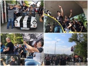 Крушарски поведе шествието! Хиляди фенове на Локо с триумфална обиколка на Пловдив