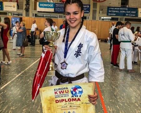 Пловдивчанка стана европейска вицешампионка по карате