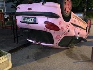 Жена откри колата си по... таван. Заела нечие паркомясто в