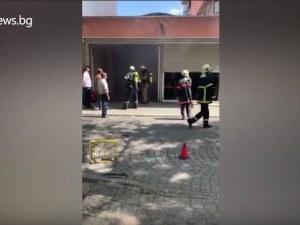 Пожар в центъра на Пловдив, горя гаражно помещение на една от централните болници
