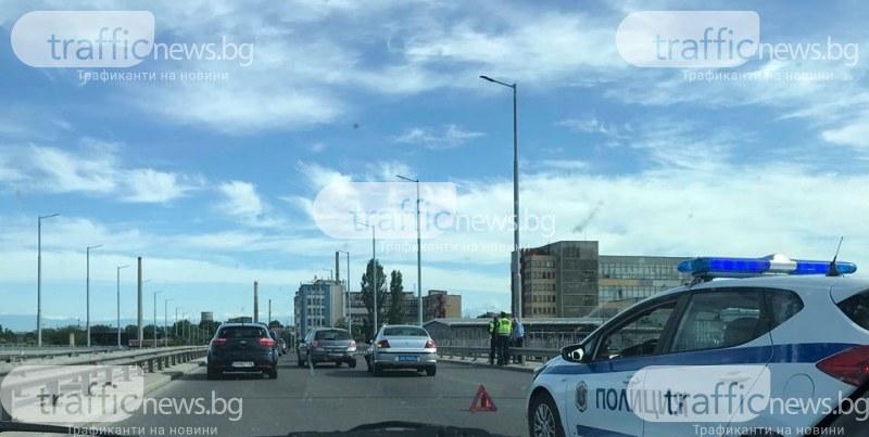Две коли се нанизаха на един от изходите на Пловдив