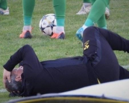 Нацелиха с камък в главата треньора на Миньор