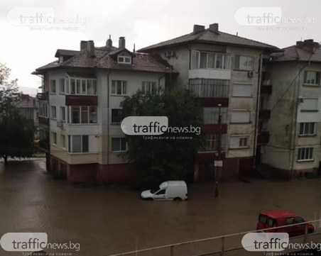 Порой с градушка удариха Търново – улиците станаха реки
