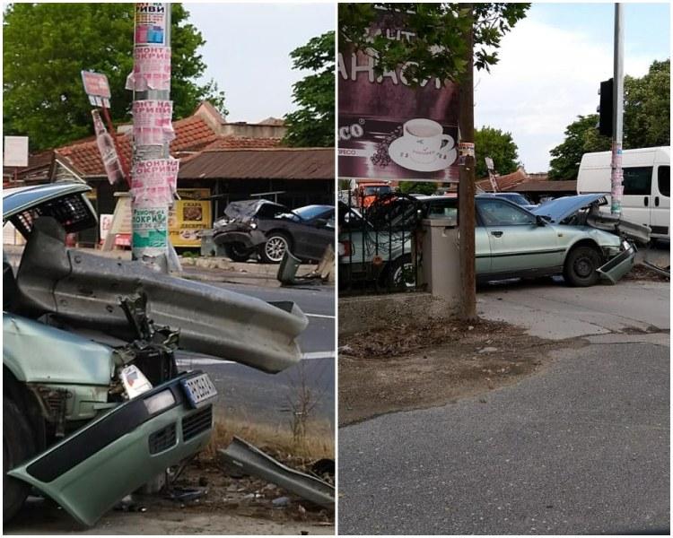 Тежка катастрофа край Пловдив - две коли изхвърчаха от пътя