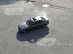 Пловдивчанин с БМВ дрифтира в Кючука, спипаха го
