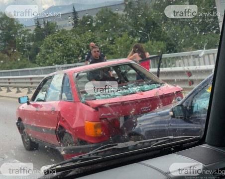 Тежка катастрофа до софийското летище! Два автомобила са помлени