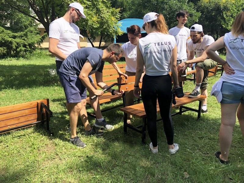 Ново парково пространство изградиха доброволците на TELUS International в Пловдив
