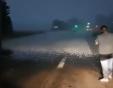 На ръба на бурята: Хърватин на сантиметри от опустошителна градушка