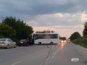 Тежка катастрофа на Околовръстното за София! Автобус помля мерцедес