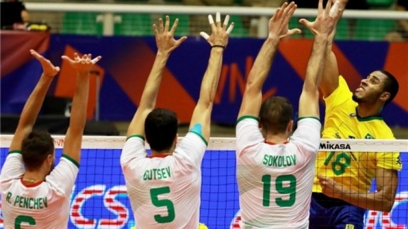 Волейболистите ни взеха само гейм на Бразилия