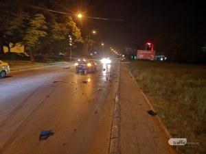 Тежък пътен инцидент в Пловдив по чудо не доведе до пострадали