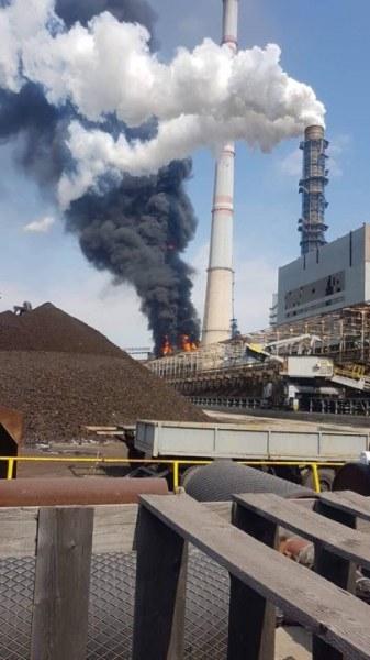 Голям пожар избухна в ТЕЦ Марица-изток 2