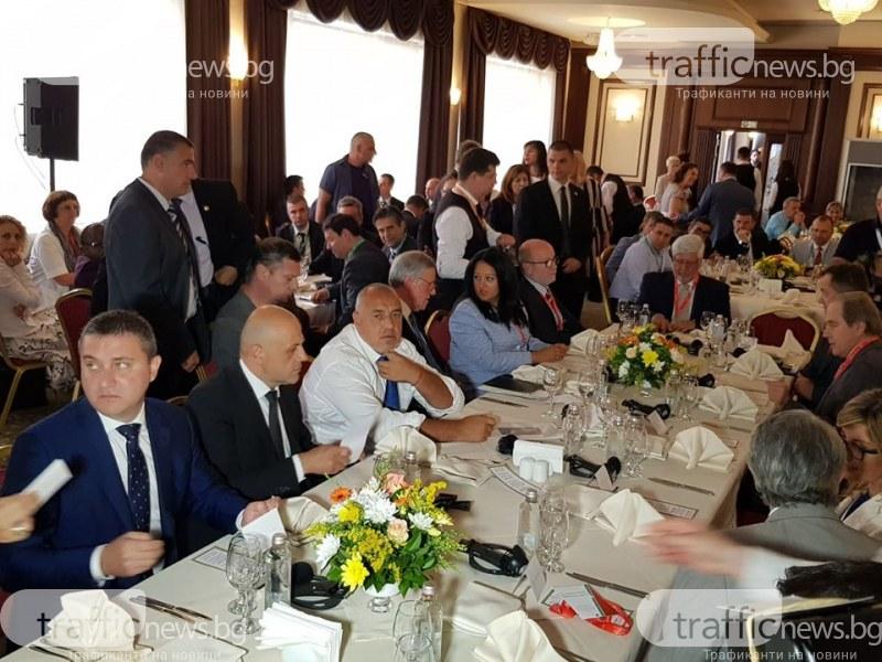 Бойко Борисов пристигна в Пловдив за икономическия форум, но без Зоран Заев