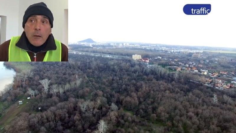 Екоактивистът, който жали всичко в Пловдив, продължава с похода си срещу лесопарка на 660 дка