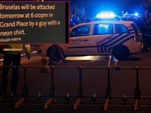 Шокиращ надпис предупреждава за атентат в Брюксел тази вечер