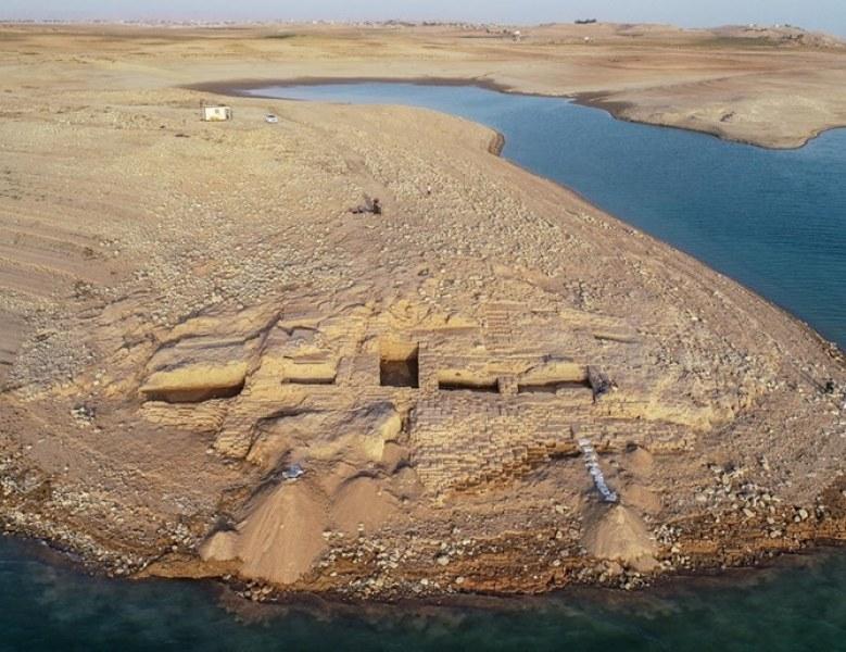 Замък на 3400 г. открит в Ирак. Находката скрита от водите на река Тигър