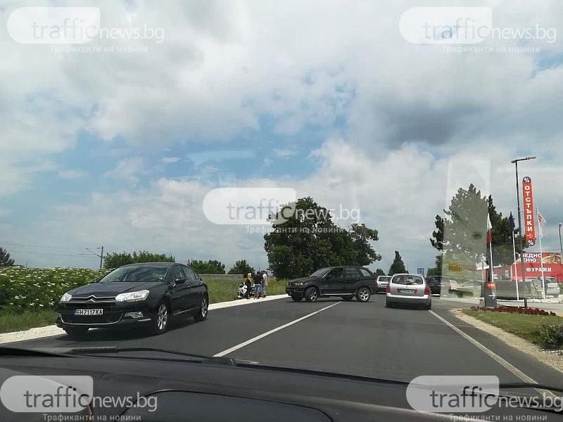 Нова катастрофа край Пловдив! Кола блъсна мотоциклетист