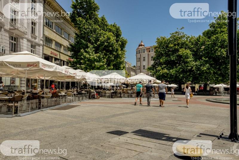 Заради жегата в Пловдив: Главната пустее, телефоните в Спешна помощ прегряха