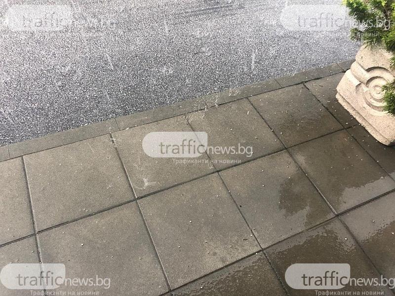 Градушка удари Чепеларе, порой заля улиците