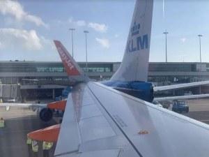 Два самолета се блъснаха на летище в Амстердам