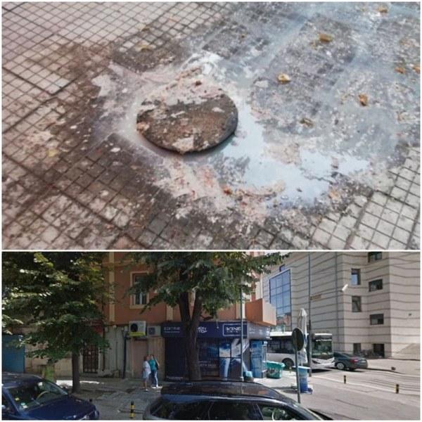 Еко бомба в центъра на Пловдив: Шахта бълва помия и фекалии вече трети месец!