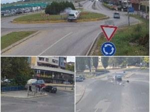 Три зрелищни катастрофи в Хасково, камери заснеха мелето
