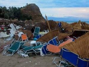 Обезщетяват български собственици в Халкидики след бурята