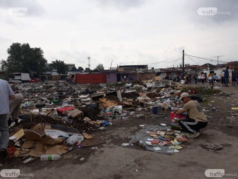 Продават плодове, зеленчуци и кокошки на метри от сметището срещу КАТ в Пловдив