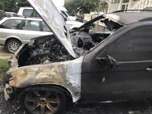 Джип изгоря в Казанлък, палежът - умишлен