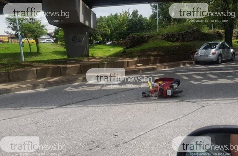 Катастрофа на Коматевския възел в Пловдив! Мъж е в болница