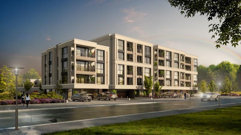 5 етажа, просторни жилища, луксозни фоайета, подземен паркинг в сърцето на парка!
