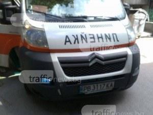 Дядо с мотопед предизвика катастрофа на Коматевско шосе в Пловдив