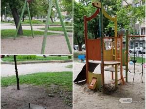 Пловдивчани: Кърлежи и бълхи хапят децата ни на детска площадка, арматура заплашва живота им